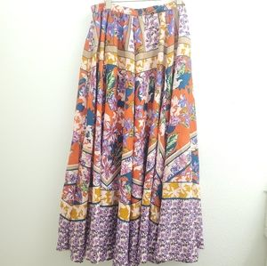 NWT Cupio MultiColor Floral Maxi Circle Skirt SK38